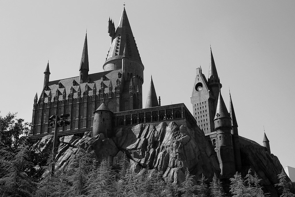 Hogwarts Castle (Black & White) - Islands of Adventure - O… | Flickr