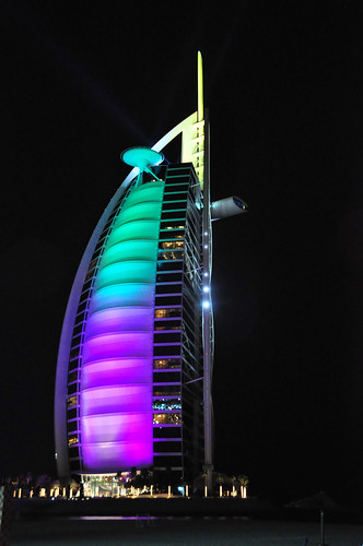 Burj al arab at night flickr photo sharing for Burj al arab per night