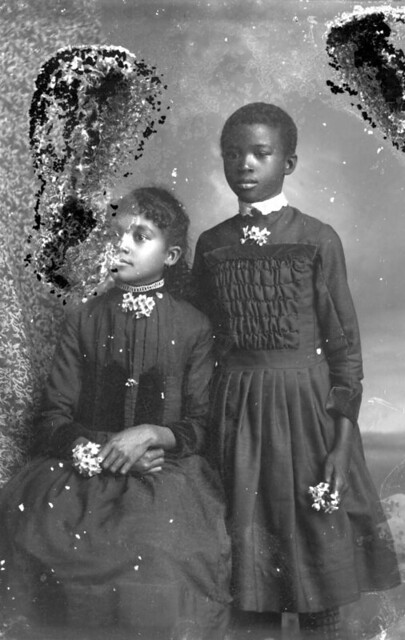 Two African American Girls Portraits Of African
