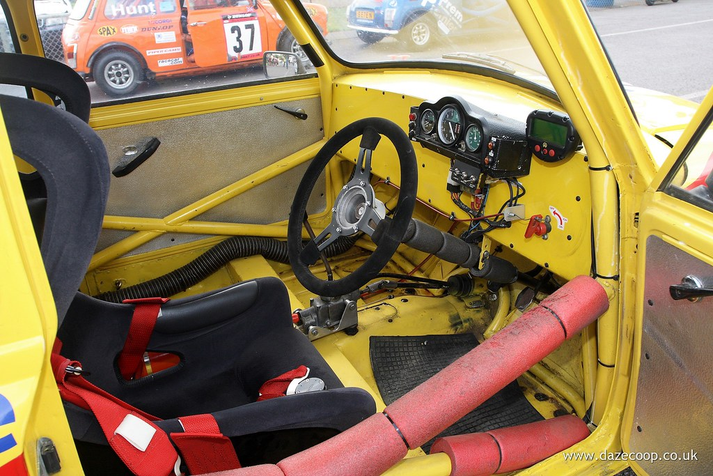 mini miglia race car interior david cooper flickr. Black Bedroom Furniture Sets. Home Design Ideas