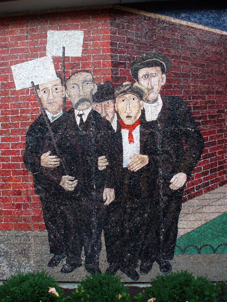 Quot Passion Of Sacco Amp Vanzetti Quot Mural By Ben Shahn Detail