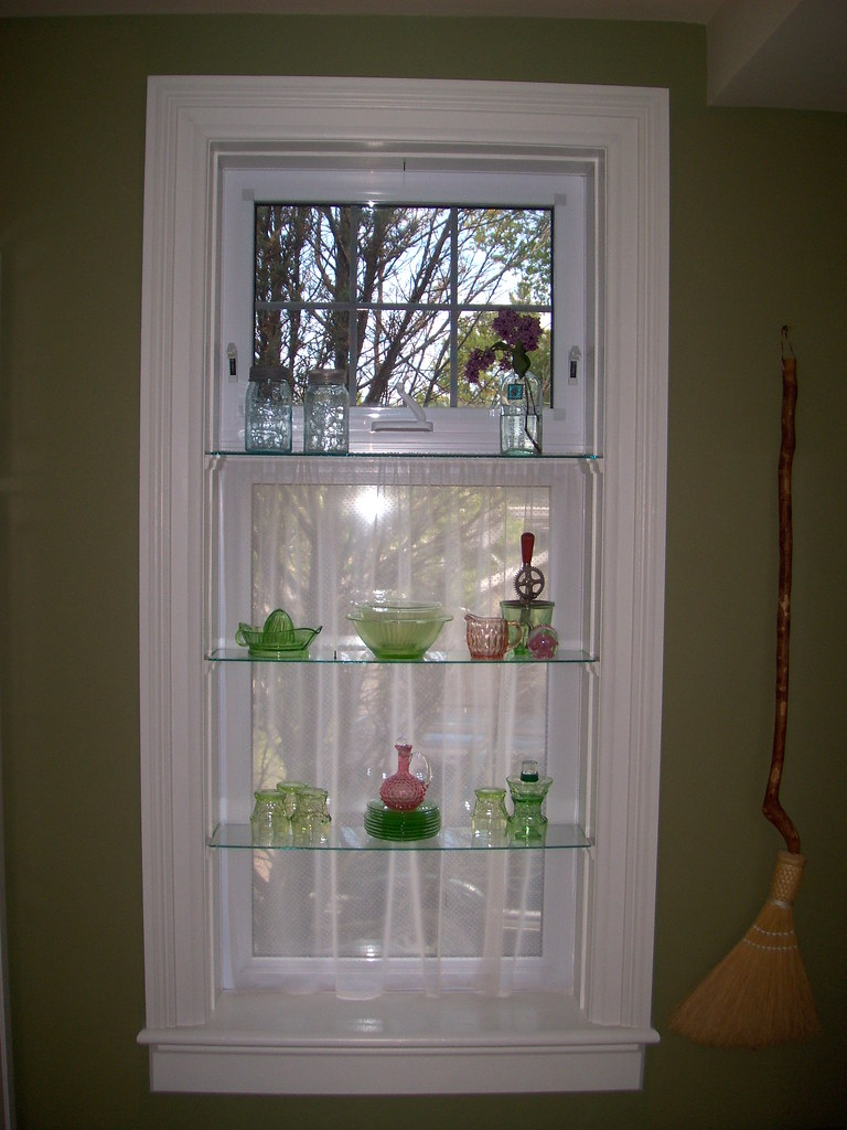 Kitchen Window With Glass Shelves Cynthia Mcmillan Flickr