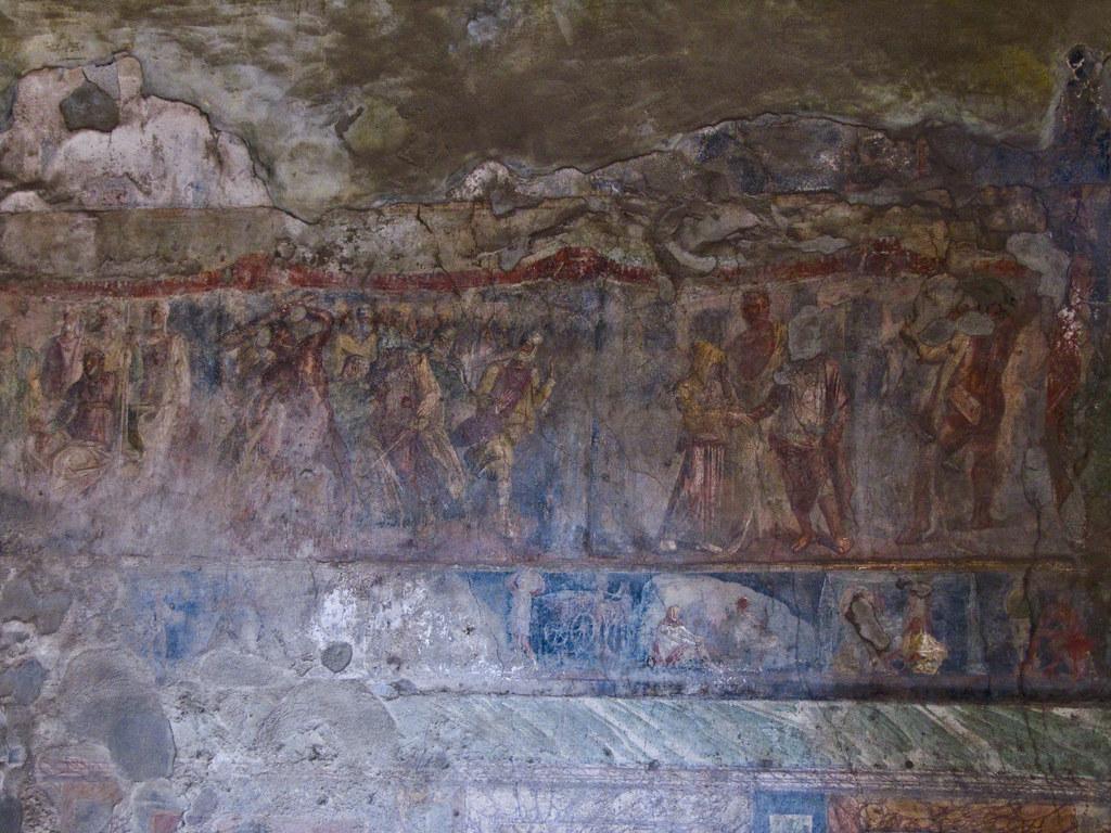 Detalle pintura mural fresco pompeya pintura mural de for Clarks mural fresco