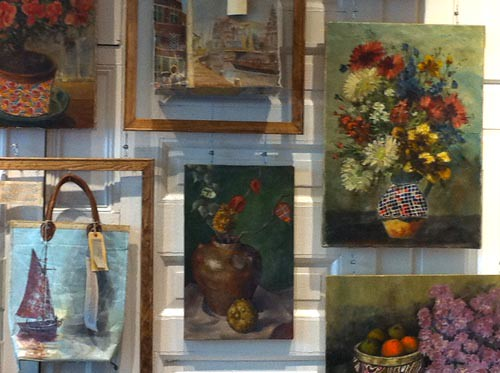 Anthropologie vintage paintings new anthropologie for Anthropologie mural