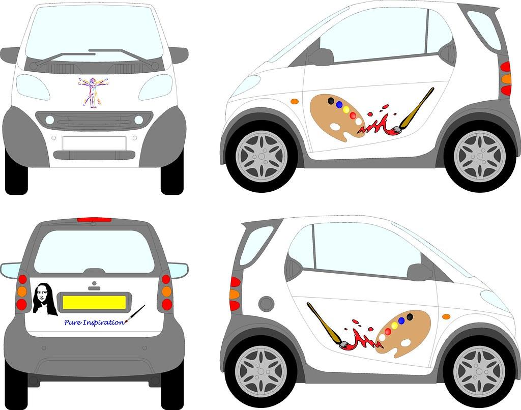 Smart Car Back Amp Front Logos Trevor Fawcett Flickr