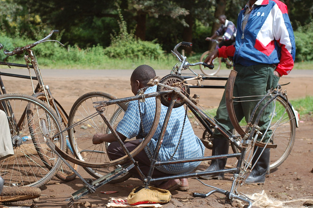 Roadside Bicycle Repair | Found all over Africa, these ...