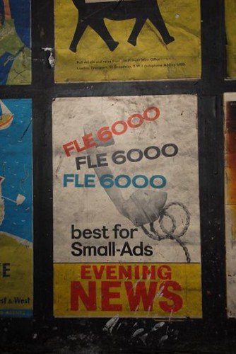 London Evening News small-ads poster