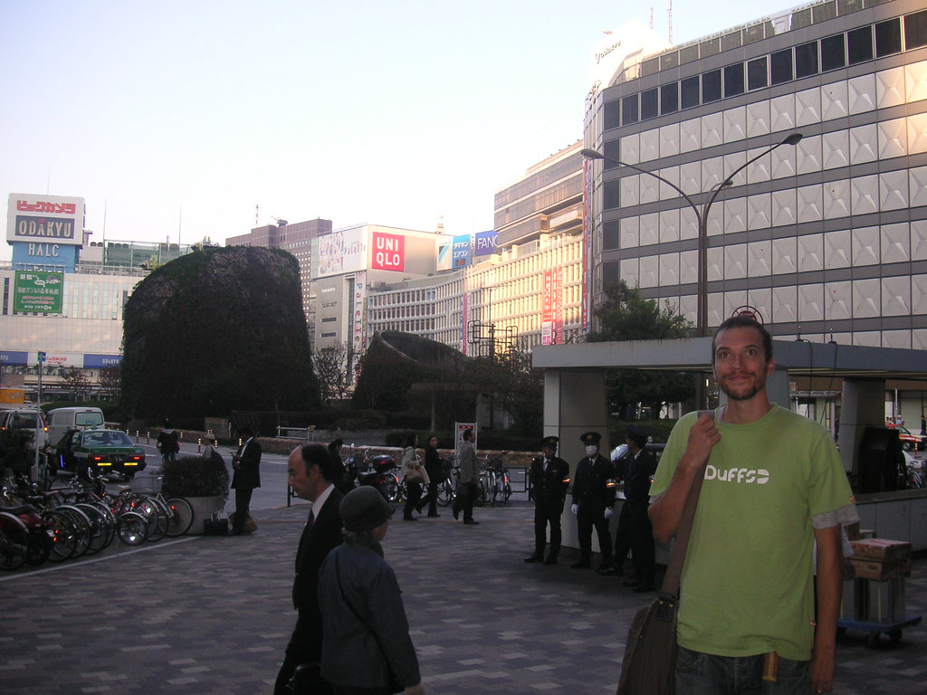 Shinjuku in a t-shirt so it must have been warm