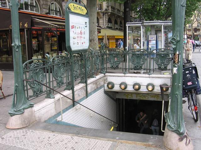 0172 saint michel metro entrance paris metro jasperdo flickr - Saint michel paris metro ...