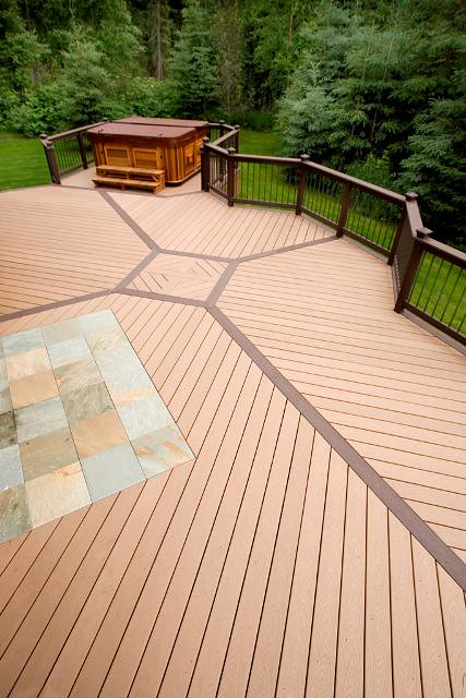 deck design ideas trex cedar hardwood alaskan0101 saddle a