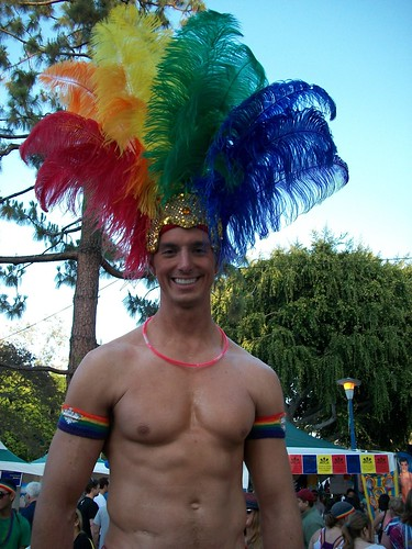 Peacock Man @ L.A. Gay Pride 2010 | by SnapShot Boy