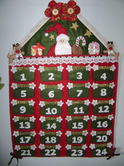 Calendário de Natal com Papai Noel | Calendário de Natal / A ...