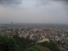 The hazy skyline of Kathmandu