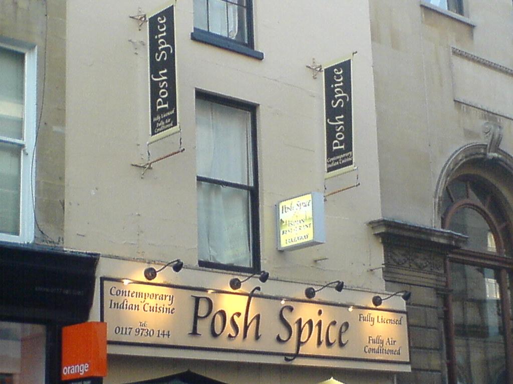 Posh Indian Restaurant Southampton Menu