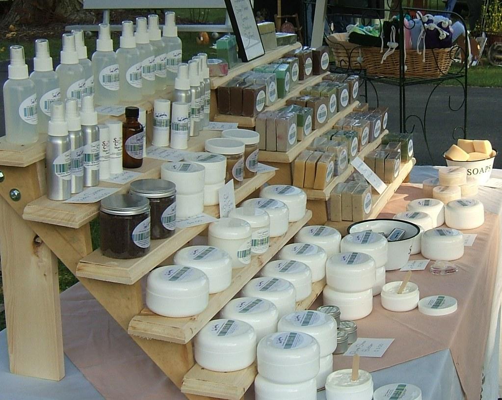 Handmade Craft Show Basket Display