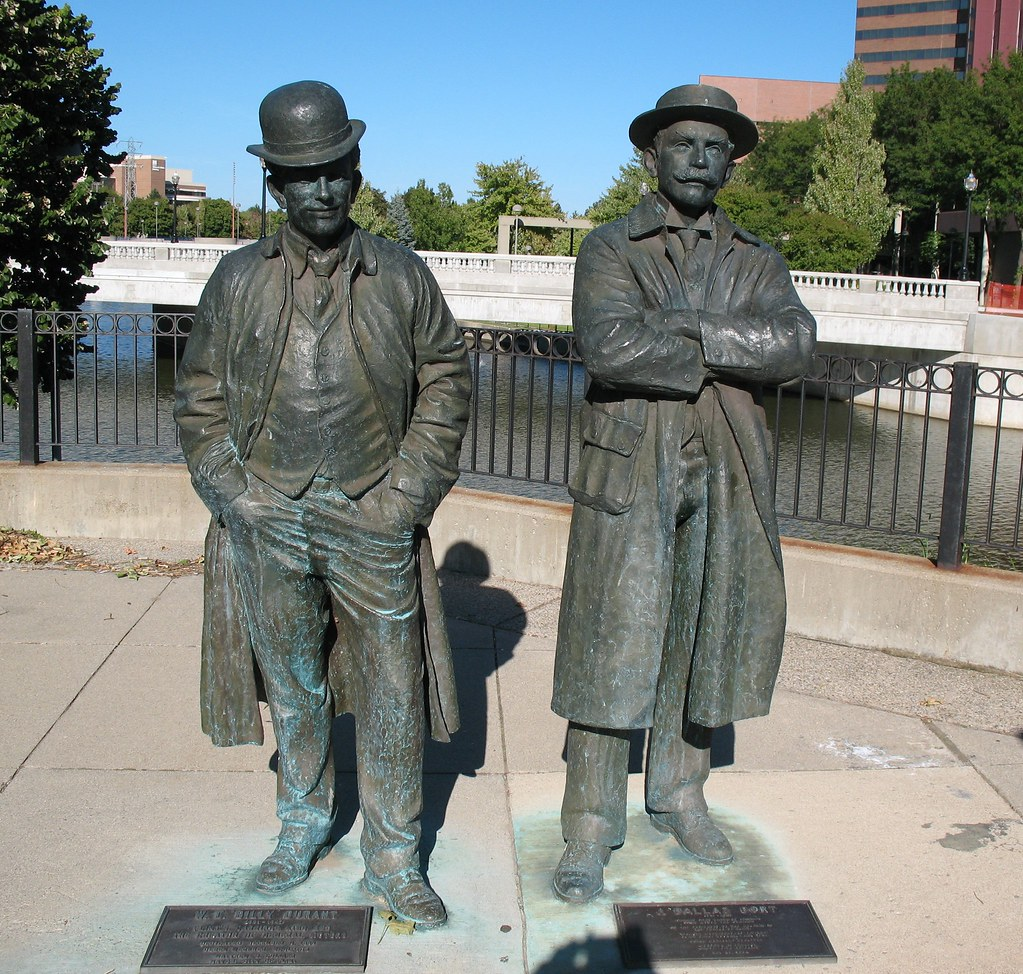 Bronze statue william c billy durant j dallas dort for General motors jobs dallas tx