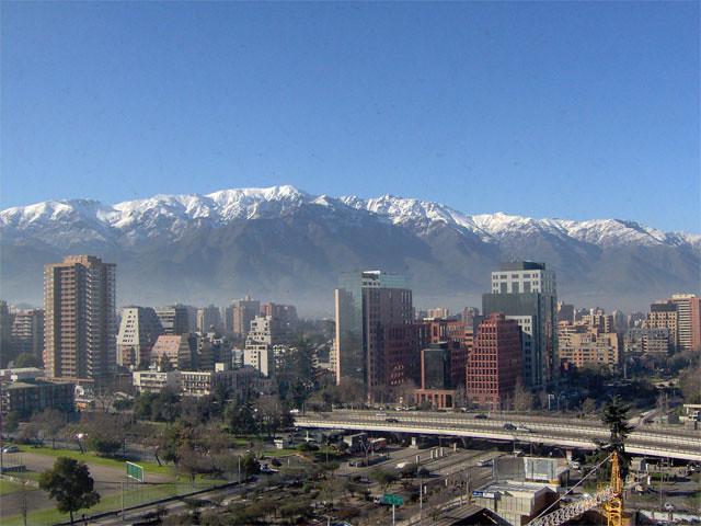 Santiago Chile A Picture Of Santiago Chile Taken From Up