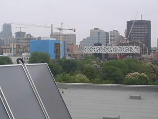 Robertson Building solar panels and view of OCAD | by Emma Rooney