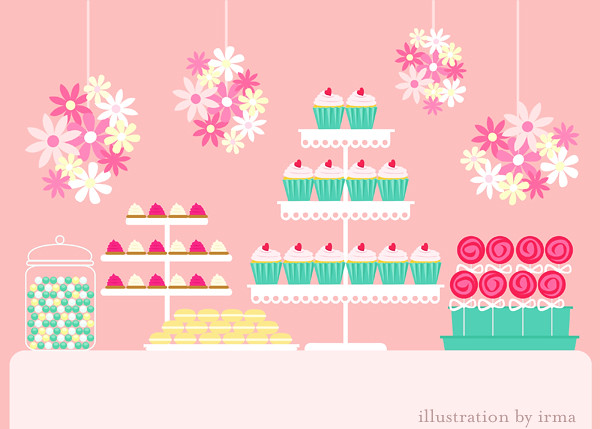 Pink Dessert Table   Inspired by Amy Atlas :) vector will ...