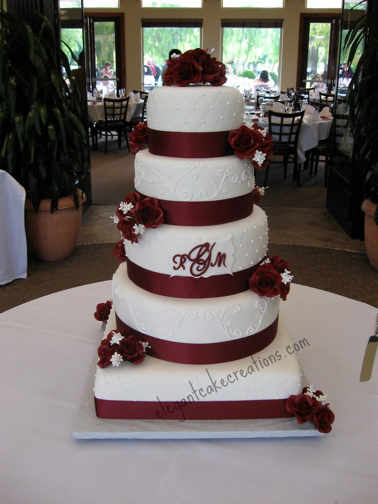 14 10 6 inch wedding cake wine and roses wedding cake 6 8 10 12 and 14 inch 10039