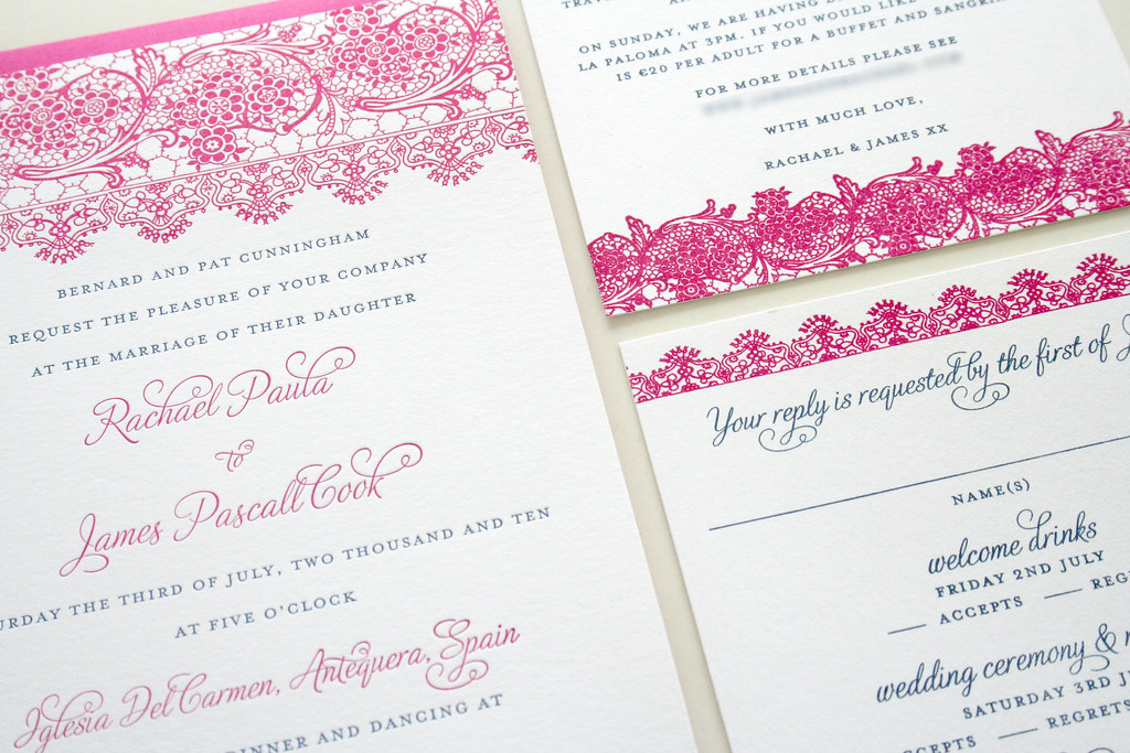 Invitations In Spanish For Wedding: Spanish Lace Wedding Invitation