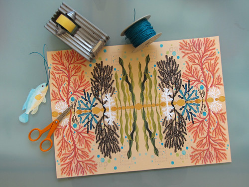 Homemade wrapping paper | by Geninne