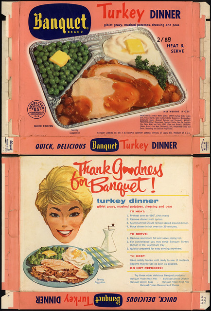 Banquet Brand TV Dinner - Turkey dinner - box - 1960's | Flickr