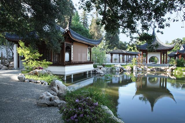 Chinese garden at the huntington library art collections - Huntington beach botanical garden ...
