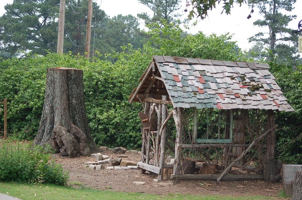 Stick House | A playhouse made of sticks on playhouse lane ... House Made Of Sticks Cartoon