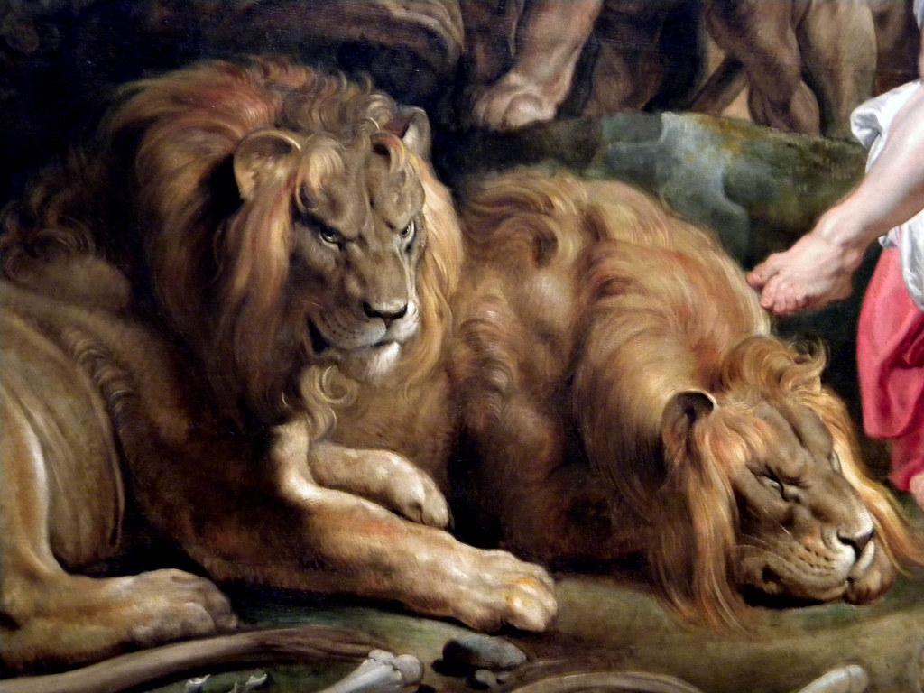 Daniel In The Lions Den C 1614 1616 Detail