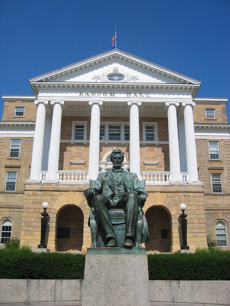 Bascom Hall And Abraham Lincoln Statue University Of