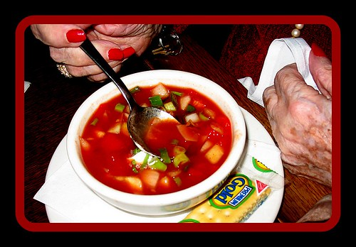 My mother dearly loves her gazpacho from when we visited Spain | by The Gifted Photographer