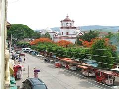 Church and town in Chiapa de Corzo