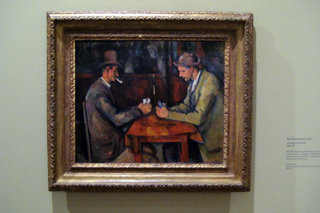 D Painting Exhibition : Paris musée d orsay paul cézanne s les joueurs de carte