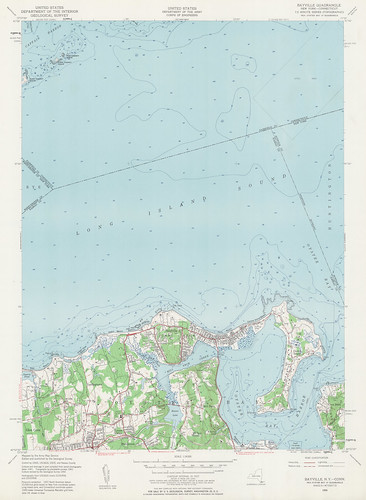 Bayville Quadrangle 1954 - USGS Topographic Map 1:24,000 | by uconnlibrariesmagic