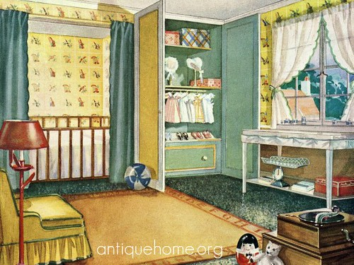 Antique home 1920 nursery design flickr photo sharing for Decorating 1920s bungalow