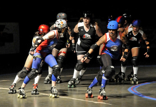 Roller Derby In NJ - The Pack | by Bob Jagendorf