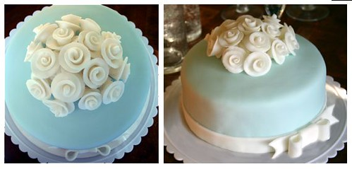 Fondant Cake With Roses