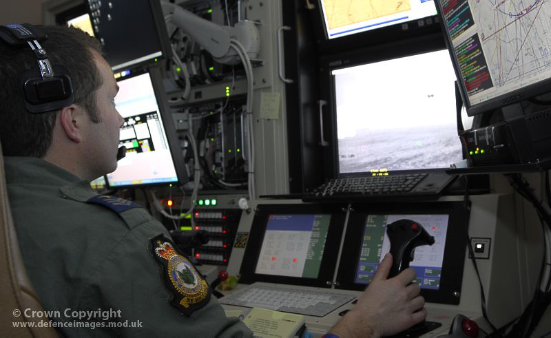 39 Squadron Reaper Remote Pilot At Creech Air Force Base