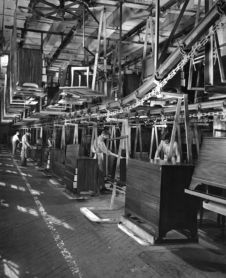 Assembly Line Workstations : Furniture assembly line caption this mile long