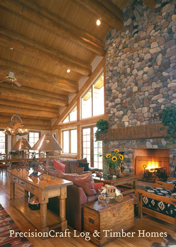 Custom Design Handcrafted Post & Beam Home | Sun Valley Idaho | PrecisionCraft Log Homes | by PrecisionCraft Log & Timber Homes