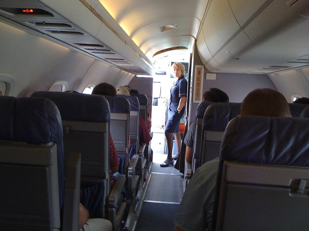 Continental Express Embraer ERJ-145 - interior view | Flickr