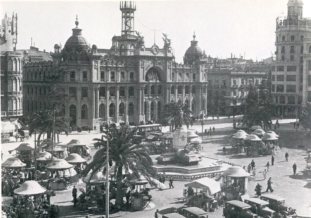 Valencia historica plaza de emilio castelar actual del for Fotos antiguas de valencia
