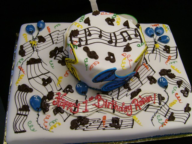 Musical Instrument Cake Decorations
