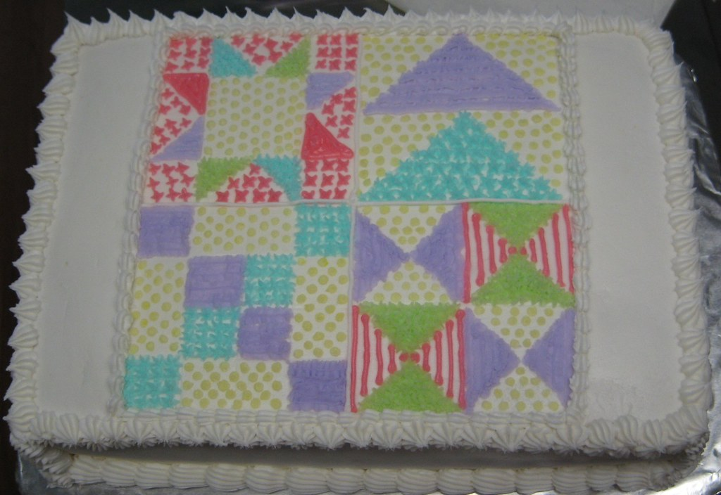 Cake Decorating Quilt Design : Quilt cake cake design I made for a quilt guild cake ...