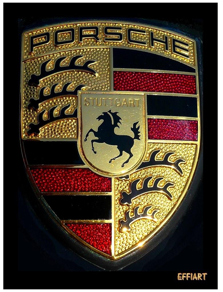Porsche Logo Porsche Wappen Porsche Emblem Metall Flickr