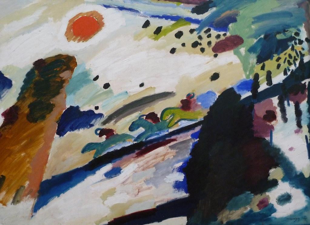 Romantisch landschap - Kandinsky | View On Black ...