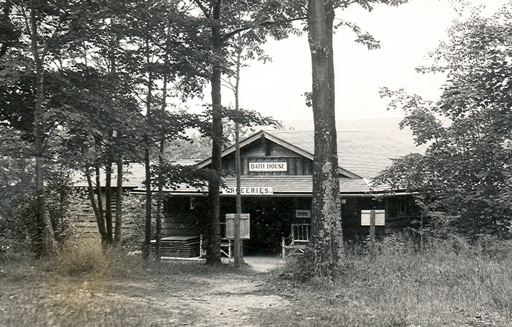 Gaylord mi otsego lake state park ccc built bath house and for Bath house michigan