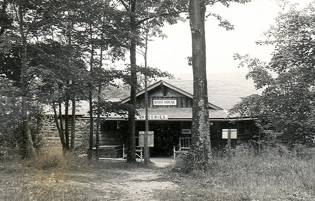Gaylord MI Otsego Lake State Park CCC Built Bath House And