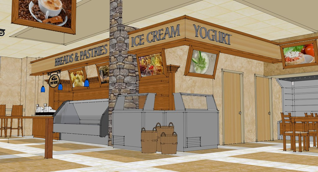 Market Pastry Area | Market Interior Design | 3D Grocery S ...